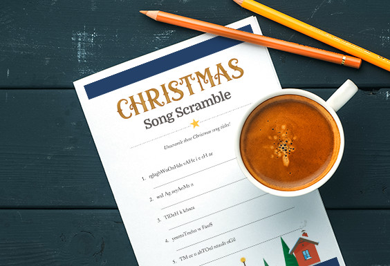 Unscramble these Christmas songs!