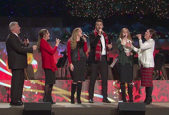 The Collingsworth Family celebrates that Holy Night