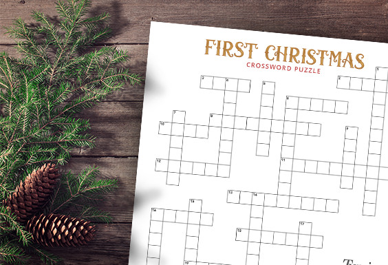 First Christmas Crossword Puzzle