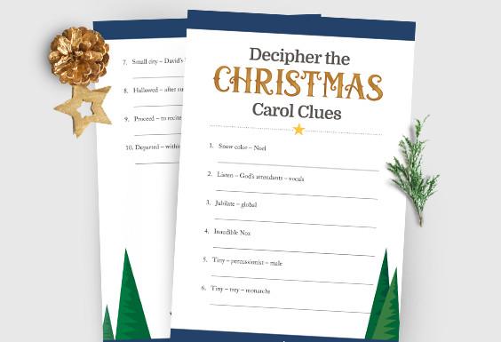 Decipher Christmas Carol Clues