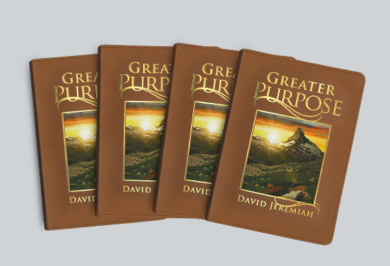 4 Copies of Greater Purpose Leather Devotional