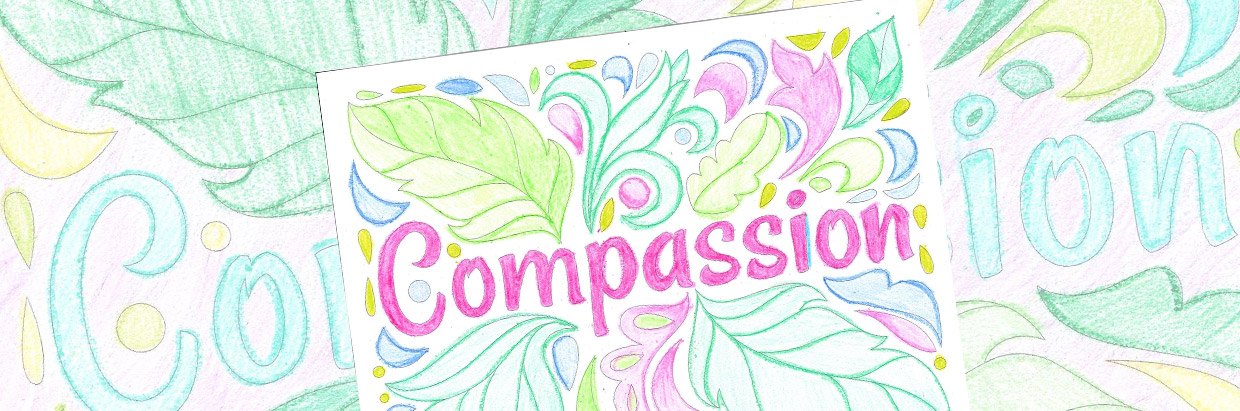 Exclusive Compassion Coloring Sheet