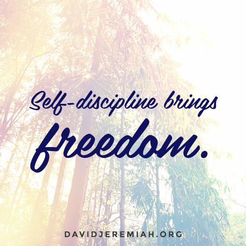 A Life of Self-Discipline part 2