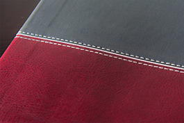Charcoal and Burgundy Leather Luxe Bible