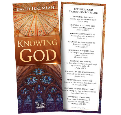 FREE Knowing God Bookmark...