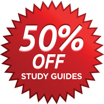 50% Off Study Guides