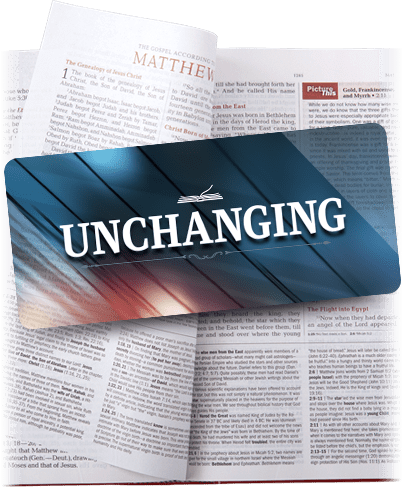 The UNCHANGING Bible Strong Partner Bookmark