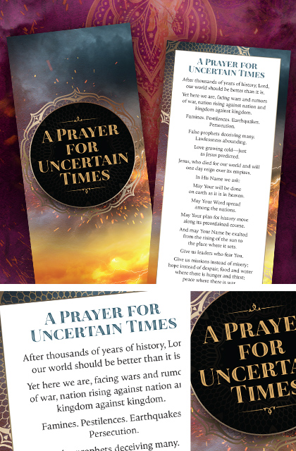 A Prayer for Uncertain Times Bookmark