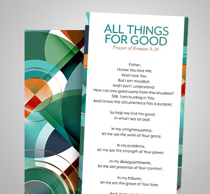 All Things for Good Prayer Bookmark