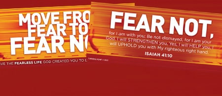 Move From Fear to Fear Not - Request Your Free Bookmark
