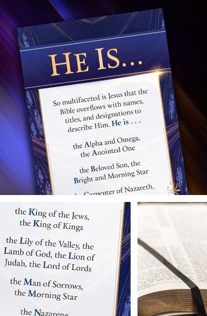 He Is Bible Bookmark