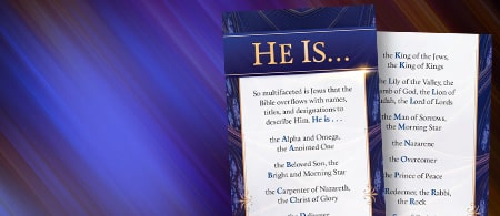 Who is Jesus? One name cannot possibly describe Him - Request your free bookmark
