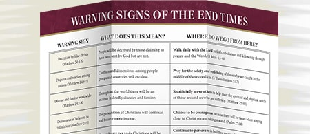 Free Resource from Dr. David Jeremiah - Warning Signs of the End Times