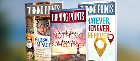 Turning Points devotional magazine - Request a Free Subscription