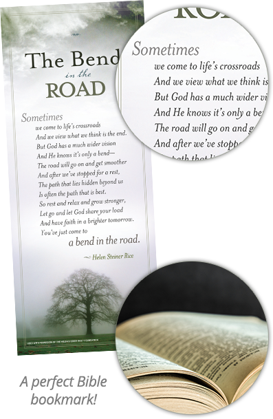 The Bend in the Road Bookmark With Poem