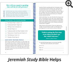 Jeremiah Study Bible Helps