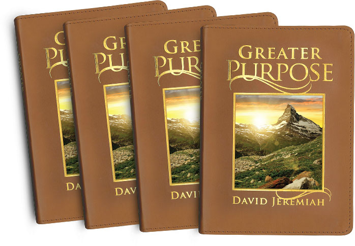 4 Copies of Greater Purpose, a 365-Day Leather Daily Devotional
