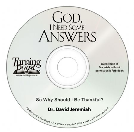 So Why Should I Be Thankful?  Image