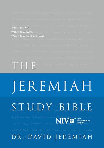NIV Hardback Jeremiah Study Bible  Image
