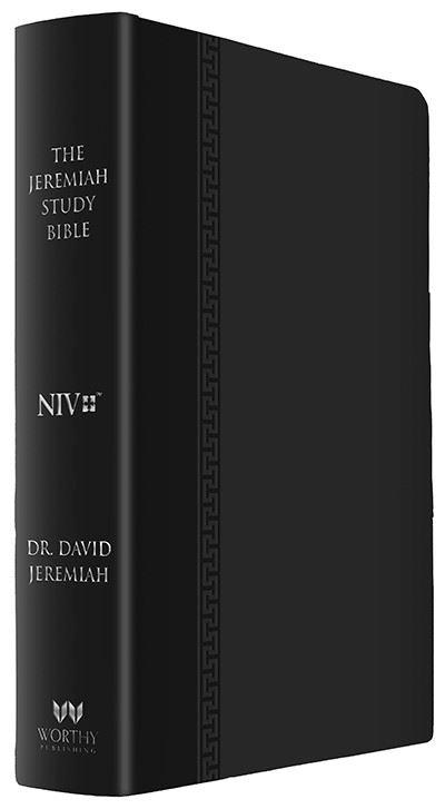 NIV Black Genuine Leather Jeremiah Study Bible  Image