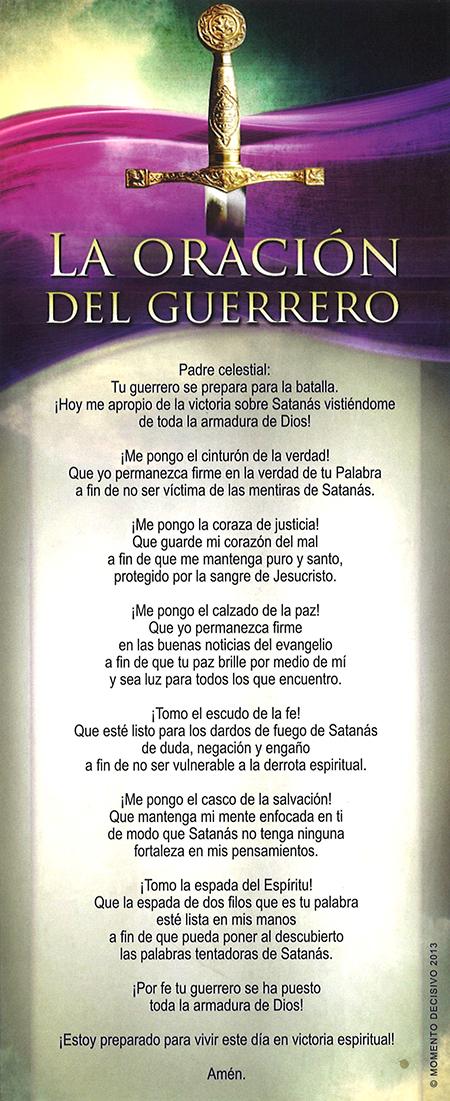 La Oración del Guerrero Marcapáginas Image