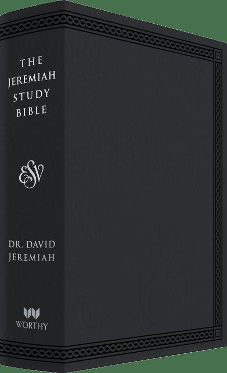 ESV Black Leather Luxe Jeremiah Study Bible