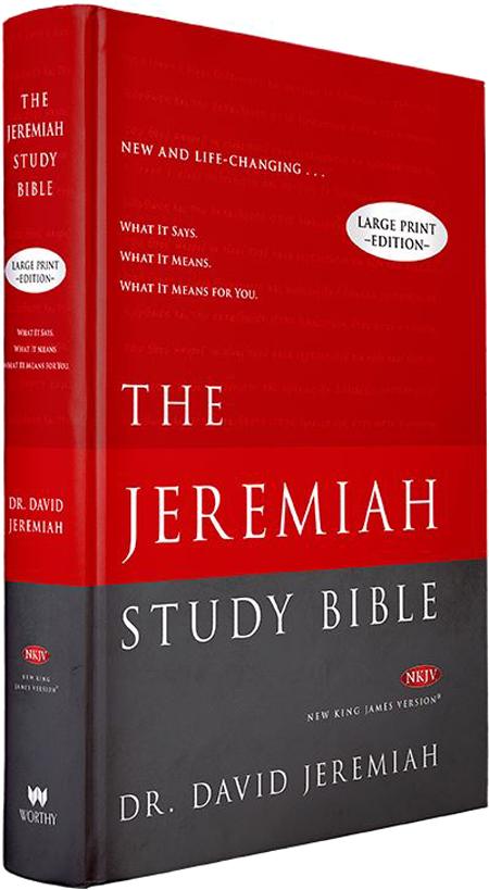 Jeremiah Study Bible NKJV Hardback Large Print