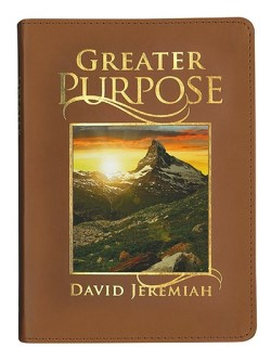 Greater Purpose Leather Devotional Book Image