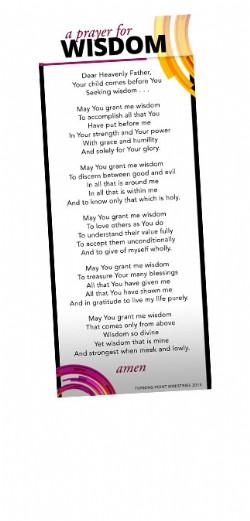 A Prayer for Wisdom Bookmark Image