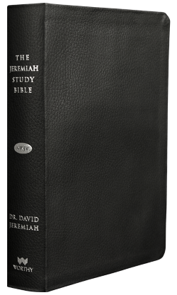 Jeremiah Study Bible NKJV - Genuine Leather: Black Image