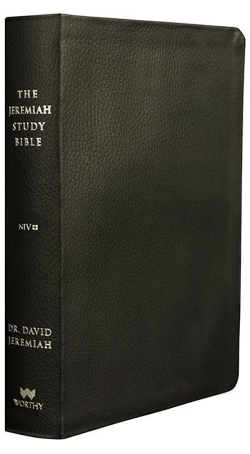 NIV Black Genuine Leather Jeremiah Study Bible