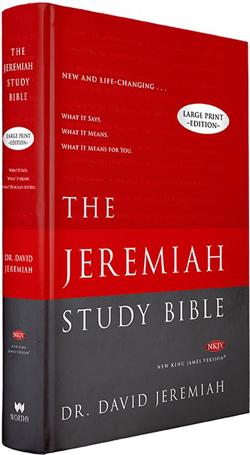 Jeremiah Study Bible NKJV Hardback Large Print  Image