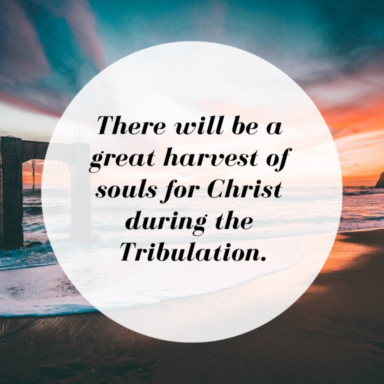 There will be a great harvest of souls for Christ during the Tribulation.