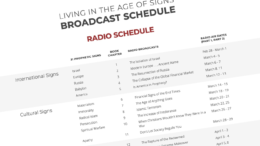 Signs Broadcast Schedule