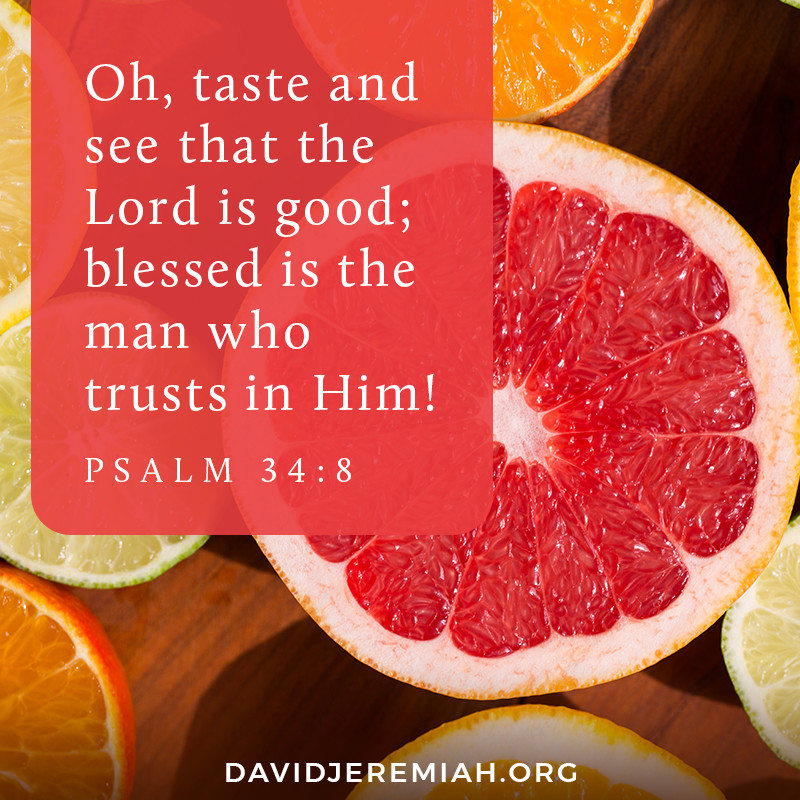 Oh, taste and see that the Lord is good; blessed is the man who trusts in Him! - Psalm 34:8