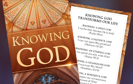 Knowing God bookmark