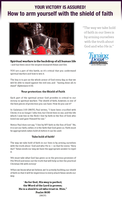 Article: How to Arm Yourself with the Shield of Faith - Click to Download