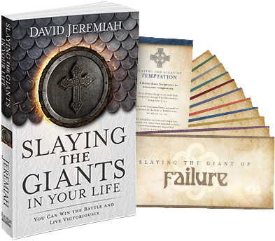 Slaying the Giants (Softcover book) and Giant Slayer Scripture Cards