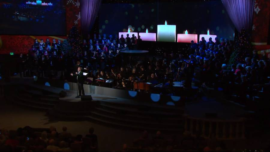 """O Holy Night"" with choir and Charles Billingsley"